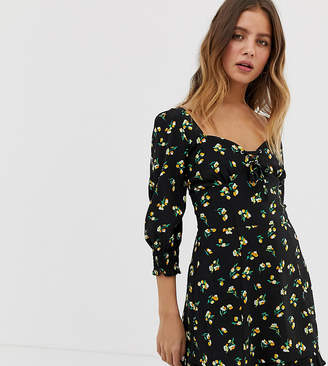 Bershka skater dress in floral print