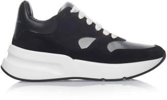 Alexander McQueen Metallic Suede Low-Top Sneakers