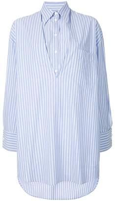 MM6 MAISON MARGIELA striped oversized shirt