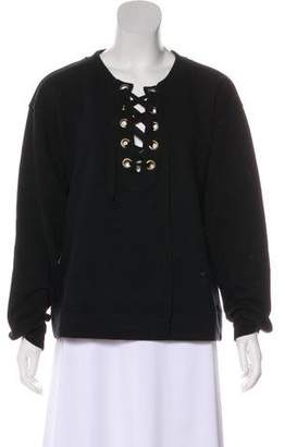 Mother Lace-Up Sweatshirt