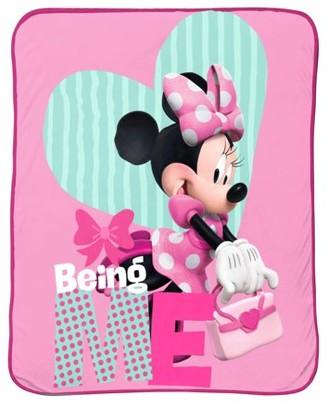 """Disney Minnie Mouse 62"""" x 90"""" Plush Blanket, Kid's Bedding"""