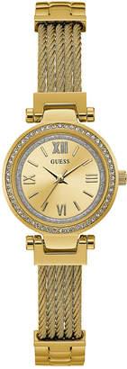 GUESS Women Gold-Tone Stainless Steel Bracelet Watch 27mm