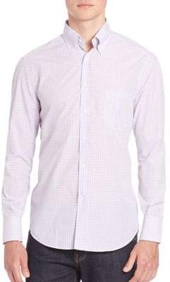 Brunello Cucinelli Checked Long Sleeve Shirt