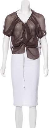 Stella McCartney Silk Asymmetrical Top