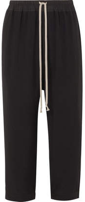 Rick Owens Cropped Cady Track Pants - Black