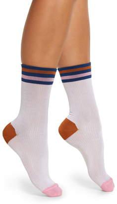Hysteria By Happy Socks Lona Stripe Crew Socks