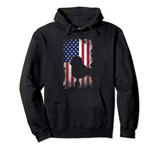 Poodle American Flag Hoodie USA Dog Lover Gift