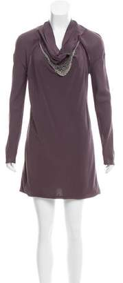 Brunello Cucinelli Monili-Trimmed Mini Dress