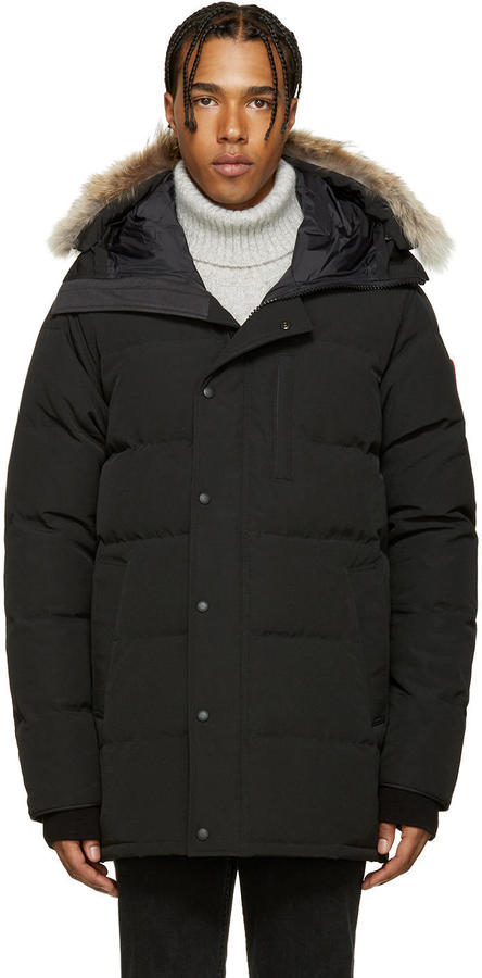 Canada Goose Black Down and Fur Carson Parka