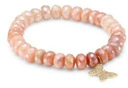 Sydney Evan Anniversary Butterfly Pink Beaded Bracelet