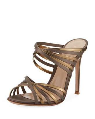 Gianvito Rossi XX Two-Tone Metallic Sandal