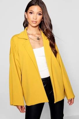 boohoo Collar Detail Relaxed Duster