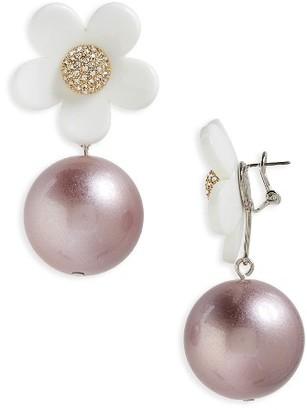 Women's Marc Jacobs Daisy Imitation Pearl Drop Earrings $125 thestylecure.com