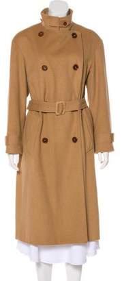Maison Margiela Camel Double-Breasted Coat