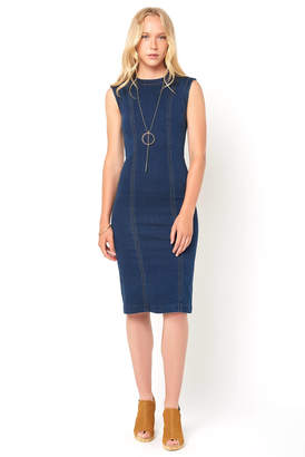 Level 99 Kimi Sleeveless Denim Bodycon Dress