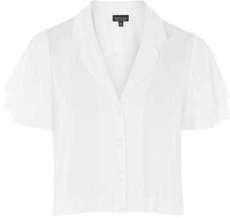 TopshopTopshop Angel sleeve dobby shirt