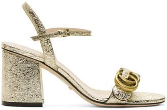 b5ce18602b2640 Gucci Gold Heeled Women s Sandals - ShopStyle