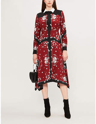Sandro Rosa printed crepe dress