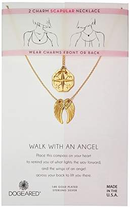 Dogeared Women's Angel Scapular Chain Necklace