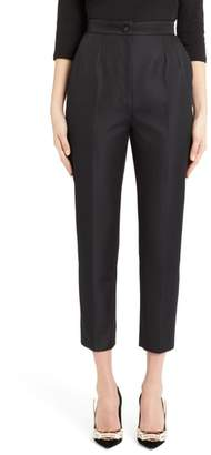 Dolce & Gabbana Pleated Silk Blend Skinny Pants