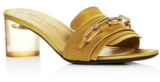 Burberry Women's Coleford Satin Mid-Heel Slide Sandals