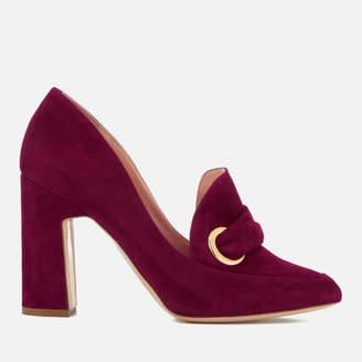 Rupert Sanderson Women's Monique Suede Heeled Shoes Sangria