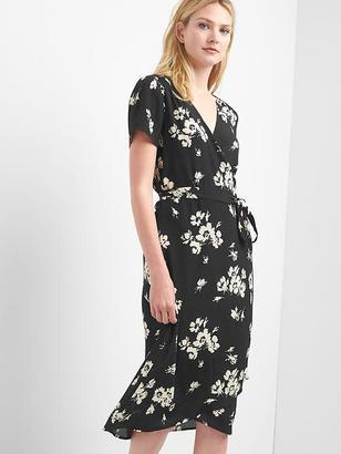 Floral midi wrap dress $79.95 thestylecure.com
