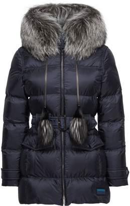 Prada Fur-Trimmed Nylon Down Jacket