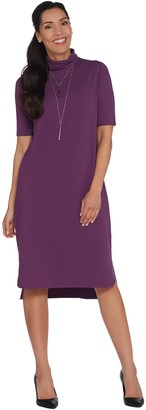 Halston H By H by Essentials Petite Turtleneck Midi Dress