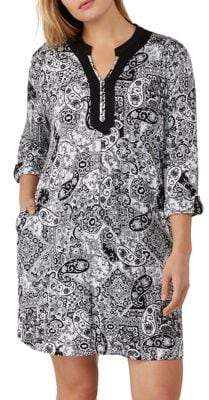 Ellen Tracy Plus Three-Quarter Sleeve Sleepshirt