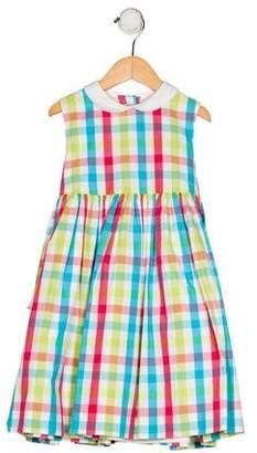 Papo d'Anjo Girls' Gingham Print Dress