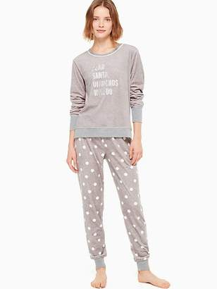 Kate Spade Stretch velour long pj set