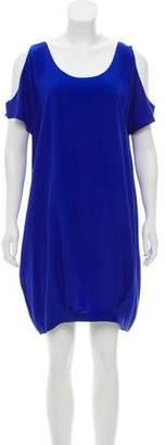 Miguelina Silk Knee-Length Dress w/ Tags