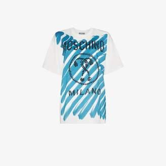 Moschino scribble logo cotton T-shirt