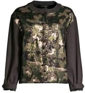 Donna Karan Sequin Camo Jacket