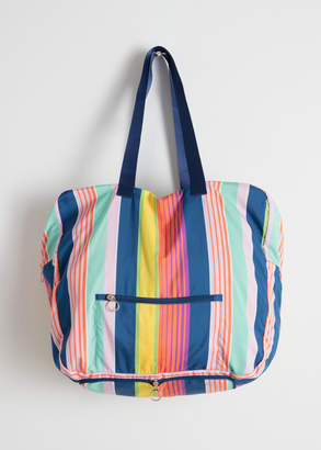 And other stories Striped Duffle Tote Bag