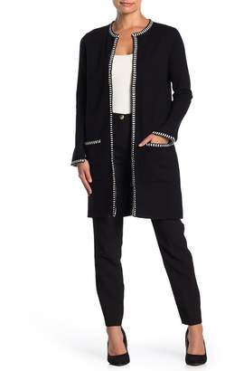 Magaschoni M BY Long Sleeve Open Cardigan (Petite)