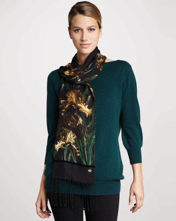 Gucci Silk Georgette Scarf