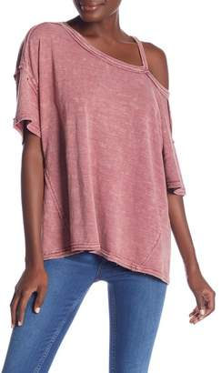 Free People Alex Split Shoulder Tee