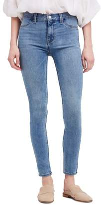 Free People Long & Lean High Waist Denim Leggings