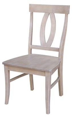 INC International Concepts Set of Two Cosmo Chairs, Washed Gray Taupe Finish