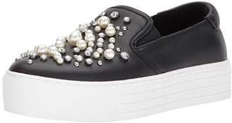 Kenneth Cole New York Women's Ashby Pearl Platform Slip-ON Sneaker with Faux Jewels