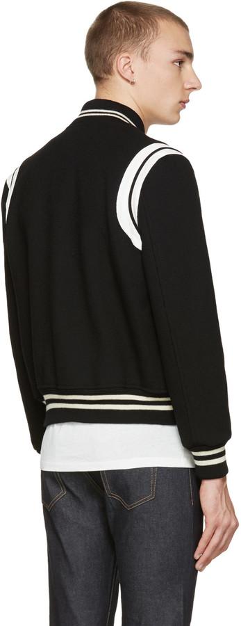 Saint Laurent Black Teddy Bomber Jacket 5