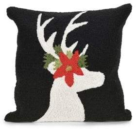 Liora Manné Frontporch Reindeer Indoor and Outdoor Square Pillow
