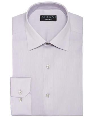 Alfani AlfaTech by Men Bedford Cord Classic/Regular Fit Dress Shirt