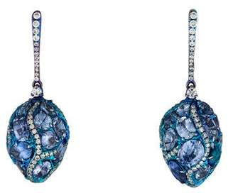 Arunashi Sapphire & Diamond Drop Earrings