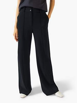 High Waisted Sport Luxe Trousers, Navy