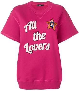 Dolce & Gabbana All The Lovers short sleeved sweatshirt