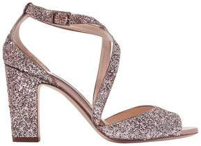 Jimmy Choo Carrie Glittered Leather Sandals
