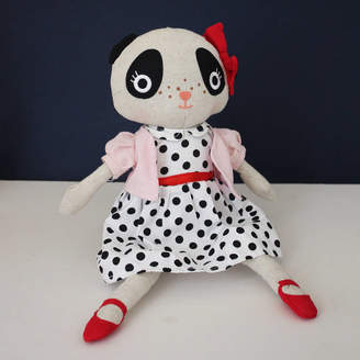 Posh Totty Designs Interiors Cuddly Spotty Dress Panda Toy